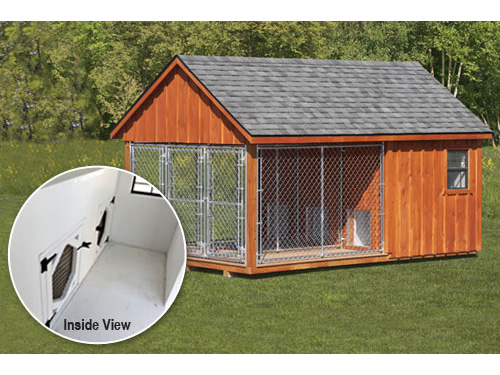 covered dog kennel