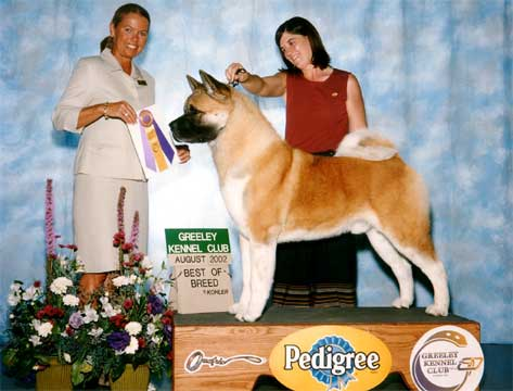 AKC CH Tuscanadeel's Big As Texas